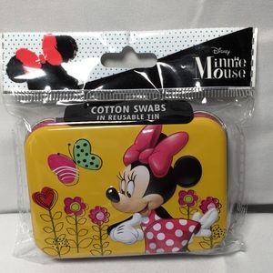 Disney Minnie Mouse Cotton Swabs in Reusable Tin